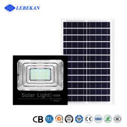 توفير الطاقة IP67 الخارجي المقاوم للمياه بقدرة 100 واط، 200 واط، فيضان LED للطاقة الشمسية إضاءة عامة مصابيح LED على الطريق