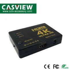 IR 리모트 3 HDTV xBox PS3 PS4 다중 매체를 위한 매우 운반 4K*2K 1080P 스위처 HDMI 스위치 선별기 3X1 쪼개는 도구 상자 HD를 가진 3X1 HDMI 스위처