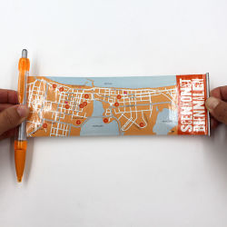 Bandera de promoción de Artesanía de pluma pluma Pluma Roll up