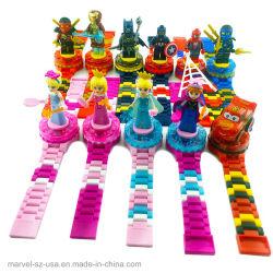 Rächer-Abbildungen Ziegelstein-Spielwaren-kompatibler Superheld scherzt Baustein-Uhr