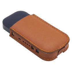 Funda de cuero auténtico de carga inalámbrica para Iqos con proteger el cigarrillo electrónico