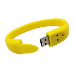 Настраиваемый размер силиконового герметика на запястье Band USB флэш-накопитель USB Pen Drive 2.0 логотип