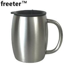 14oz / 450ml taza de acero inoxidable de doble pared de la Copa de cerveza de café taza de agua de viajar de camping al aire libre deportes tazas para la barra de inicio
