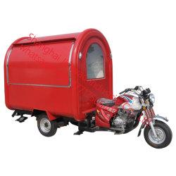 De Vertoning van de Vrachtwagen van het Voedsel van de Vrachtwagen van het Voedsel van Tricycl van de Benzine van de Vrachtwagen van het Voedsel van Motorbik