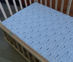 Impressão personalizada 100% algodão Jersey Bebé Folha a folha de berço berço montado