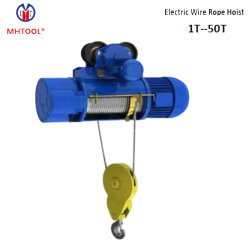 مرفاع كابل الحبل السلكي الكهربائي من السلسلة 25ton CD1/MD1 مع مرمدات مزدوجة