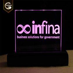 Rechthoekige Reclame doos-0415e van de Raad van de van uitstekende kwaliteit van het Neon Lijst van leiden- Tekens de Acryl