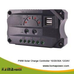 LED Hhu 12VDC 24VDC 10amperios de carga solar PWM Convertor con USB