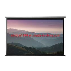 """manueller Projektions-Bildschirm der Wand-60 """" X60 """" mit Mattweiß"""