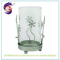 Sino gloire cylindre en verre en cristal clair unique porte-bougie
