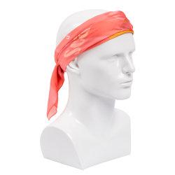 Custom Low MOQ Digital Printing Satin Silk Scarf Hair Square Polyester Ethicon Soie sjaals Dames 60* 60cm
