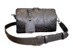 حقيبة يد للرجال مصنوعة من الجلد الأسود الذي يحمل علامة تجارية ساخنة والبيع المحافظ