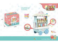 Bonitinha Estilo de Banda Desenhada Funny Fingir Play Toys Kids Sorvete Brinquedo Carrinho