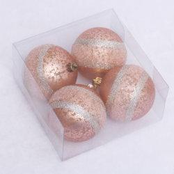 Plástico de 8 cm de Champagne bolas de Navidad Bolas de Navidad