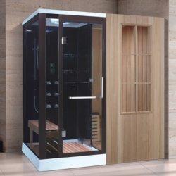 Femme bain humide de la vapeur Sauna en bois Zone de la salle