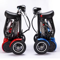 4륜 이중 모터 이동성 접이식 전동 스쿠터 자전거 성인