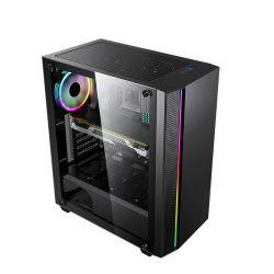 2020 RGB 지구 디자인을%s 가진 최신 판매 ATX 도박 컴퓨터 PC 상자