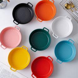وعاء الأرز المخبوز أدوات الطهي الخزفية أدوات الطهي الخزفية ألواح الكأس المنزلية وعاء الصباع الصغير