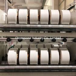 Buon filato elastico di Lycra del filato dello Spandex della materia prima per il filato della piuma del poliestere di uso del pannolino del bambino con i prodotti di igiene di alta qualità