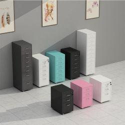 3 5 6 8 أدراج خزانة تخزين القرطاسية الفولاذية الملونة