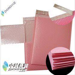 도매 관례에 의하여 덧대지는 봉투 잠시 부대 눈물 증거 분홍색 Kraft 종이 기포 우송자 제조자