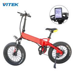 Bicicletta della gomma del fuoco dell'OEM 250W per la bici grassa della sporcizia della montagna della gomma degli uomini della bicicletta elettrica grassa della Montagna-Bici