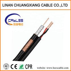 Câble vidéo de la caméra CCTV- RG59 +2c Power siamois câble coaxial de communication OEM de haute qualité