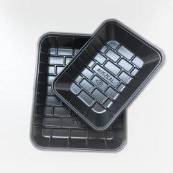 Kundenspezifisches schwarzes Blasen-Verpacken- der Lebensmittelkasten-Nahrungsmitteltellersegment Soem-pp.