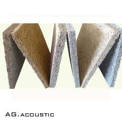 AG. Madera de la naturaleza acústica Cemento de lana de panel acústico