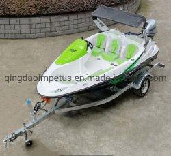 Aprovado pela CE motor de popa tipo 16 FT 4,8 M Velocidade de fibra de barco de esqui para venda Capacidade de 6 Pessoa