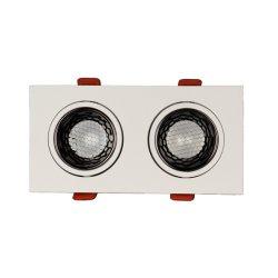 مصباح LED لموضع أدنى قابل للتخفيت LED مربع مزدوج بقوة 7 واط