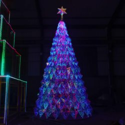 쇼핑몰 장식 맞춤형 아크릴 크리스털 크리스마스 트리 맞춤 월마트의 장식품