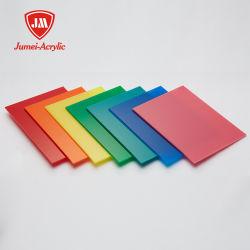 Fábrica Jumei Venda directa e clara em acrílico colorido Folhas acrílicas / folha de plástico/folha de acrílico por grosso