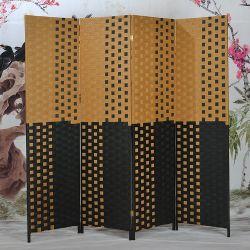 2 3 4 6 Panel Papierseil Holz Faltteiler Wandwand Raumwand Wandschirm