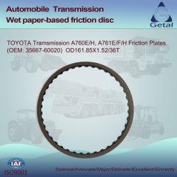 Toyota 변속기 A760/761e/F/H 클러치 마찰 플레이트 Od161.85X1.52 36t(OEM 35667-60020)