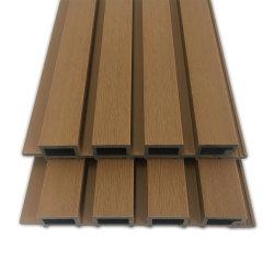 Resistente a UV impermeável ao ar livre olhar madeira WPC Co-Extrusion revestimento do painel de parede composto