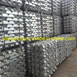 Lingote de aleación de zinc Zamak 2 5 3###/ Lingote de cinc estándar un 99,995% utiliza principalmente para la industria de la batería de aleación Die-Casting