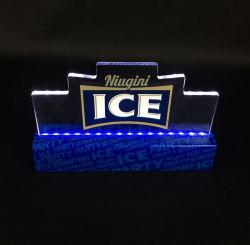 Plexiglas acrílico transparente fosco sólido exibir o logotipo da marca do cubo do bloco do motor