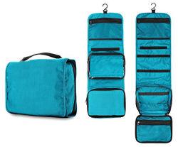 Kit de produtos de higiene pessoal para os cosméticos, espelho, Conjunto de viagem para homens e mulheres Organizador Mala Saco de Lavagem do rolo, saco com holograma de produtos cosméticos