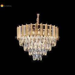 Goldenes Hotel-Licht des Großhandelsdekoration-hängendes Kristallluxus-LED
