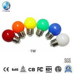 Lampadina variopinta della lampada 1W LED di natale con Ce RoHS per illuminazione decorativa