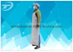 PE Revestidos Spp/PE/PVC/Spp/Impresso/LDPE/Não Tecidos de algodão de plástico descartáveis/pó aventais com pescoço e cintura com cintas para cozinha/Cozimento/Hospital
