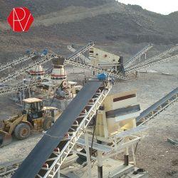 100 TPH Système de broyage de pierre concasseur fixe l'usine de dépistage de sable de la station