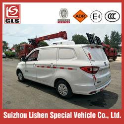 شاحنة صغيرة مبردة مبردة تحتوي على قشدة ثلج بقدرة 1,5 طن للبيع محرك بنزين سيارة مجمدة للطعام