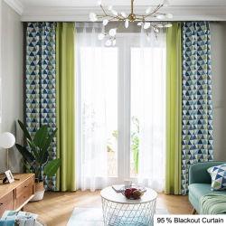 Chambre à coucher 90 X 90 Teal et rideau d'indisponibilité pour Yrf blanc