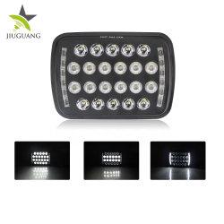 المصباح الأمامي ذو الضوء الساطع الفائق 5x7 LED بتقنية LED للسيارة 66 واط