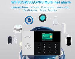 Sistema dello scassinatore di obbligazione domestica con il sistema di allarme del fumo del sistema di allarme di WiFi &GSM/3G&GPRS