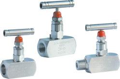 Aço inoxidável Instrumento de 2 vias da válvula de agulha 304/316