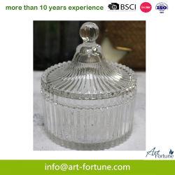 Supporto di bottiglia di vetro di memoria con il coperchio per la decorazione domestica