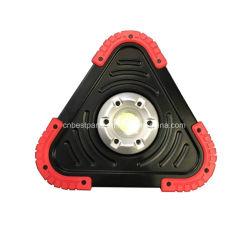 Luz recarregável 20W COB triângulo de aviso do refletor de alumínio